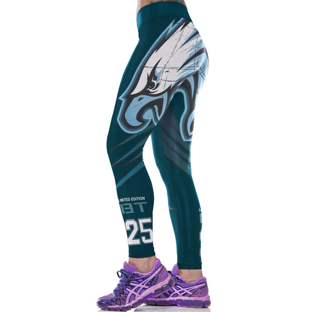0adae276a JLZLSHONGLE New Eagle 3D Printed Women Fitness Leggings Sexy Force Exercise  Pants High Stretch Wicking Aerobics Workout Clothes