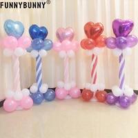 FUNNYBUNNY Balloon Column Base Stand Display Botton Birthday Wedding Party Decoration