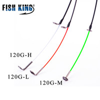 FISHKING 3 bölümler Malzeme Karbon veya Cam Elyaf Uzunluğu 52 CM Için Yedek Üst Parçaları Feede Çubuk