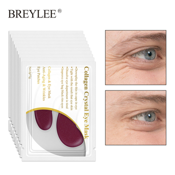 BREYLEE Collagen Eye Serum Rye Mask Anti Fat Granule Crystal Eye Patch Face Skin Care Remove