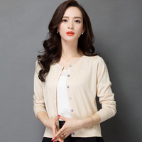 7 Colors Spring Summer Long Sleeves Thin Knitted Cardigan Sweater O Neck Hot Sales Quality Brand