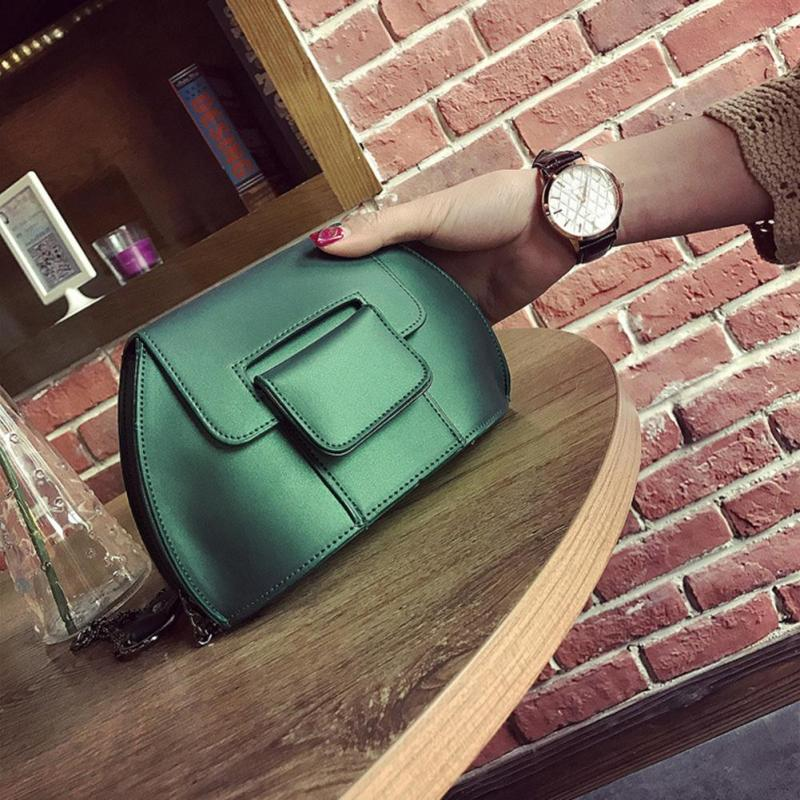 PU Leather Women Shoulder Small Bag Bright Solid Color Mini Simple Design Shoulder Bag for Teenage Girls Crossbody Bags Y2 leisure solid color and pu leather design shoulder bag for women