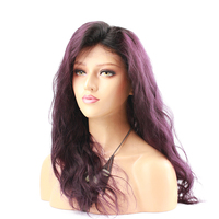 Eseewigs Purple Ombre Lace Front Human Hair Wigs For Women Brazilian Remy Hair Body Wave Glueless Lace Wig Baby Hair Pre Plucked