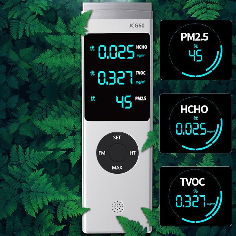 Портативный PM2.5 детектор CO2 Датчик качества воздуха детектор Formaldhyde Тестер Многофункциональный HCHO TVOC Интеллектуальный газовый анализатор