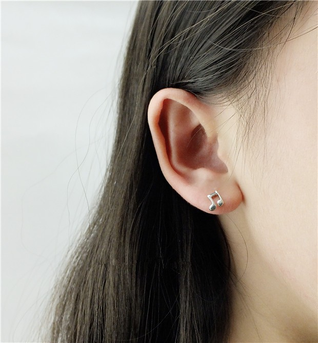 2018 Direct Selling Promotion Brinco 925 Sterling Jewelry Hypoallergenic Ear Lovely Notes Of High-end Fashion Earrings Ms E255 Stud Earrings Jewelry & Accessories