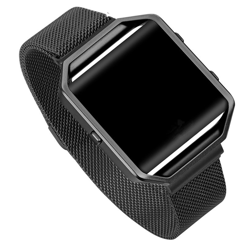Fitbit Blaze Band With Metal Frame Milanese Loop Smart Watch Band Replacement Stainless Steel Bracelet Strap