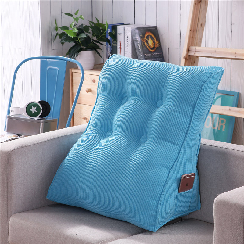 Triangular Waist Back Big Large Cushion Pillow Comfortable Backrest Cushion for Sofa Bed Thick Lumbar Backrest Pillow for ChairTriangular Waist Back Big Large Cushion Pillow Comfortable Backrest Cushion for Sofa Bed Thick Lumbar Backrest Pillow for Chair