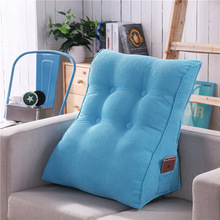 Triangular Waist Back Big Large Cushion Pillow Comfortable Backrest for Sofa Bed Thick Lumbar Chair