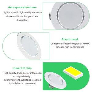 Image 3 - LED Downlight 3W 5W 7W 9W 12W AC220V 230V 240V Warm Wit Koud witte Verzonken LED Lamp Spot Light Led Lamp voor Slaapkamer Keuken