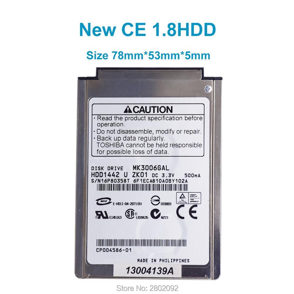 "1.8 ""30 GB CF / PATA MK3006GAL მყარი დისკი წამყვანი ლაპტოპისთვის iPod Gen3 Gen4 PHOTO U2 შეცვალოს MK2004GAL MK4007GAL, უფასო გადაზიდვა"