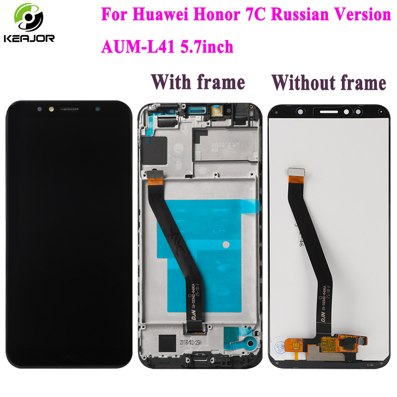 For Huawei Honor 7C LCD Display+Touch Screen Russian Version AUM-L41 5.7inch New Digitizer Replacement for Honor 7C LCD DisplayFor Huawei Honor 7C LCD Display+Touch Screen Russian Version AUM-L41 5.7inch New Digitizer Replacement for Honor 7C LCD Display