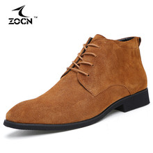2016 New Autumn Men Boots Cow Split Leather Boots Men Shoes Black Military Ankle Boots For Men Flats Shoes Zapatos Hombre