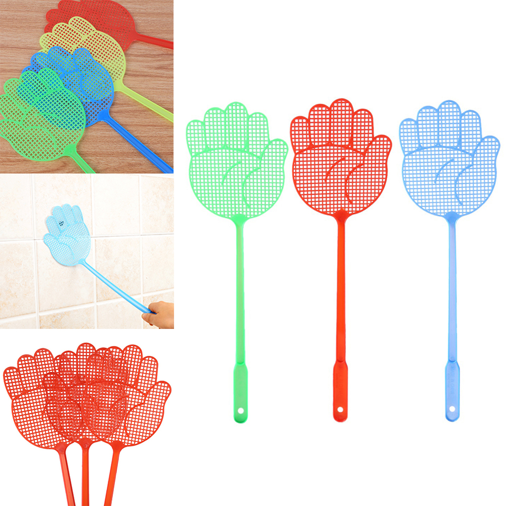 1pc Fly Swatter Pest Control Manual Plastic Durable Long Handle 2019 New Arrival Hot Sale Swatter Bug Zapper Mosquito Killer