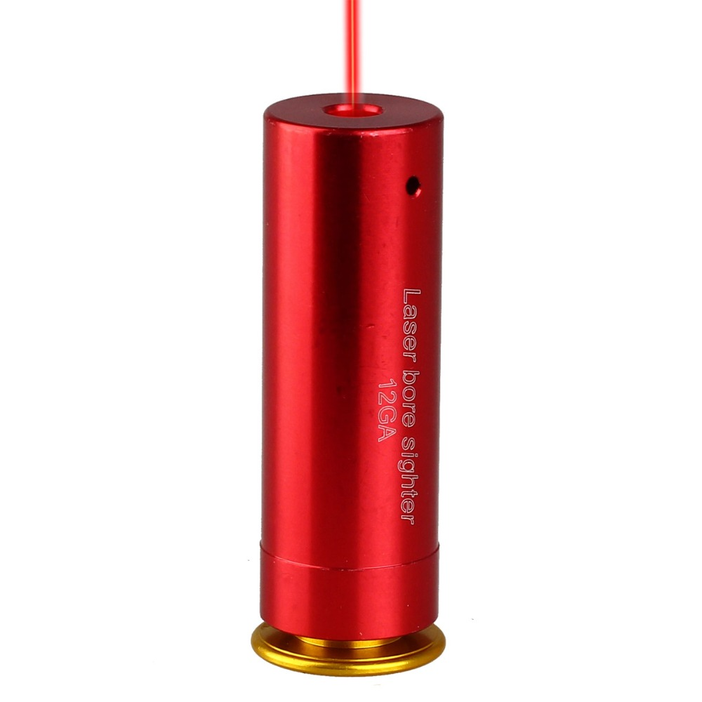 12 GAUGE 12GA Cartridge Laser Pointer Bore Sighter Boresighter Red Sighting Sight Boresight Red Copper Shotgun