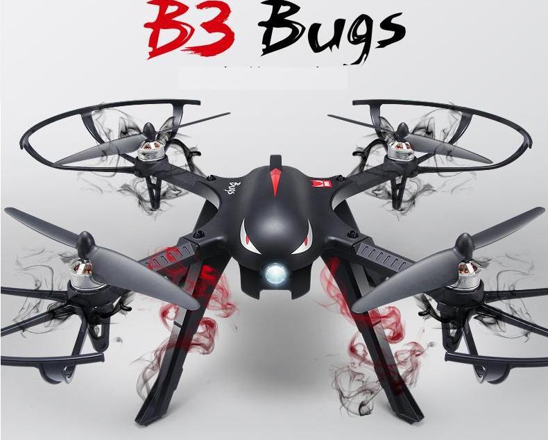 Ewellsold B3 Bugs 2.4 Ghz 4CH rc quadcopter drone con cardán de motor sin escobi