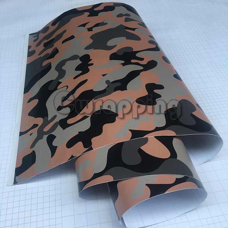 Urban Grey Camouflage Motorcycle Car Wrap Matte Scooter Adhesive PVC Camo Vinyl Film With Air Bubble Free 1.5m 2m 3m size