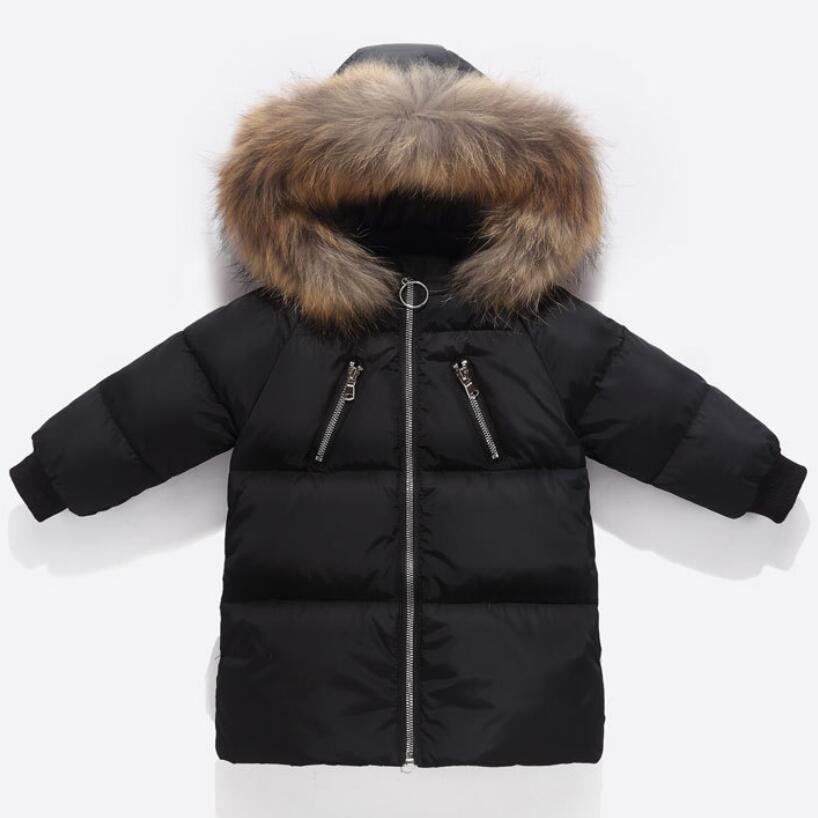 MV Childrens Down Jacket Girls Long Thick Korean Girl Winter Clothing Coat