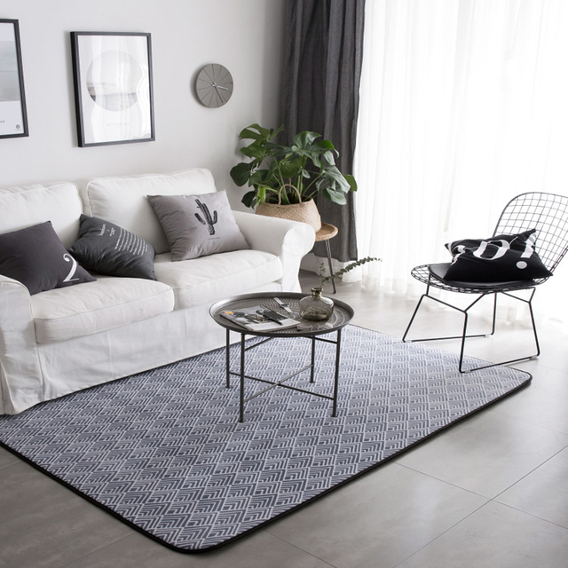 Delightful Nordic Simple Modern Fashion Livingroom Carpet Bedroom Mat Soft Flannel Rug  Parlor Area Rugs Grey Color Part 21