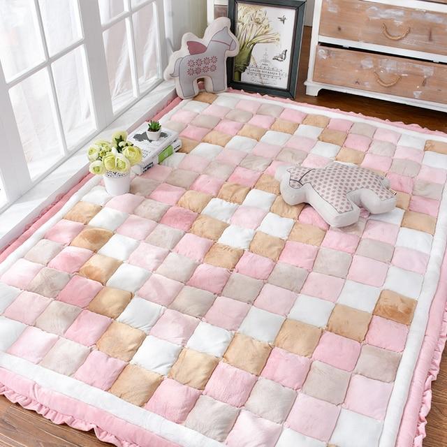 Perfekt Dicker Baumwolle Maschinenwaschbar Teppich Kinderzimmer Bunte  Nachttischdecke Baby Kriechen Bodenmatte Neugeborenen Schlafzimmer Decke