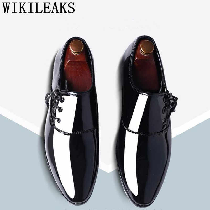 الرجال فستان أحذية براءات الاختراع والجلود أشار تو الرجال أحذية حفلات الزفاف ديربي أحذية أكسفورد أحذية للرجال Zapatos دي Vestir Hombre