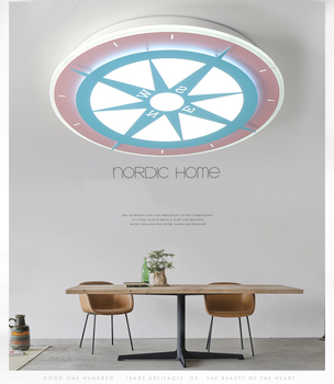 DX Moderne Led-deckenleuchten Leuchte Für Kinderzimmer Studie Literatur Kunst Dimmbare Lampe Kompass Stern Auf Decke Warme Glanz