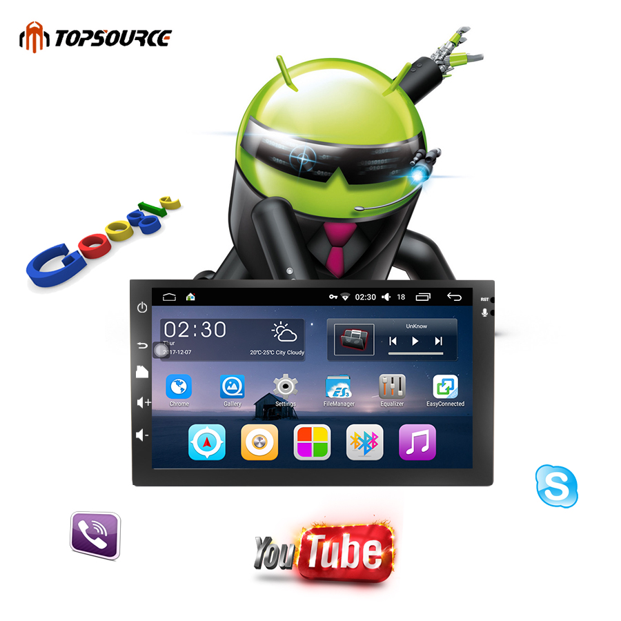 TOPSOURCE 7universal 2 din car radio gps android 6.0 2din Car DVD Player GPS NAVIGATION For VW Nissan TOYOTA Volkswagen peugeot