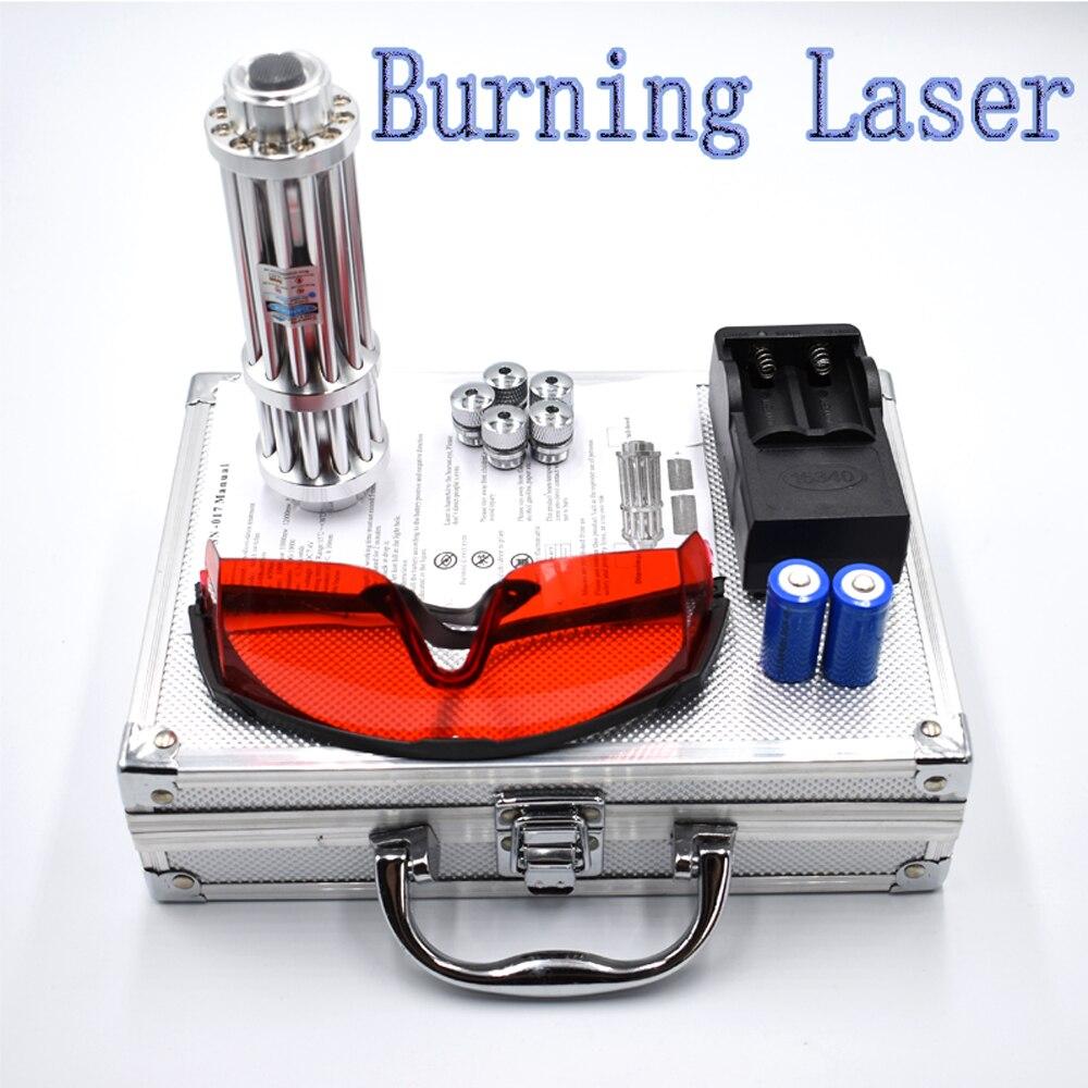 Queima de Caça Mais Poderoso Ponteiro Laser Verde Lazer Pointer Pen Queima Azul Vermelho Mira Laser Puntero Laser Apontador Laser