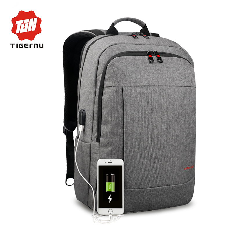 2017 Tigernu Anti-theft USB charging Men 15.6 inch Laptop Backpack Women Backpack Mochila School Backpack Bag Casual Laptop Bag