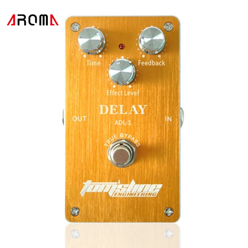 Aroma ADL-1 Aluminum Alloy Housing True Bypass Delay Electric Guitar Effect Pedal for Guitarists Hot Guitar Accessories aroma tom sline abr 3 mini booster electric guitar effect pedal with aluminum alloy housing true bypass durable guitar parts