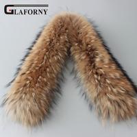 Glaforny 2018 Real fur collar 100% genuine raccoon fur scarf 70cm,80cm winter for women hot selling high quality collar