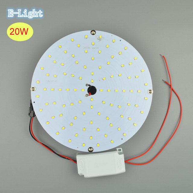 20W Round LED Ceiling Lamp Plate 2835Smd LEDs Panel Magnetic Ceiling Lights  Aluminum Board Circulars For Kitchen Office 12V 24V