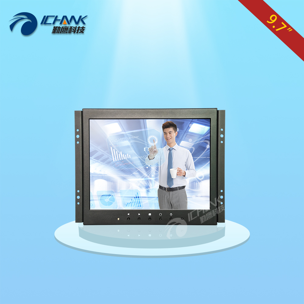 ZK097TC-V591/9.7 inch 1024x768 4:3 HDMI VGA USB HD Metal Shell Embedded&Open Frame&Wall-mounted Touch Monitor LCD Screen Display zk080tn 705 8 inch 1024x768 4 3 metal case vga signal open wall hanging embedded frame industrial monitor lcd screen display