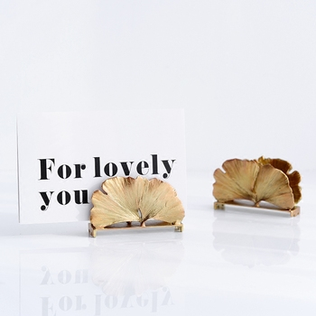 Ins figures Nordic gold Wedding Party Reception Place Card Holder Stand Number Name Table Menu Picture Photo Clip Card holder