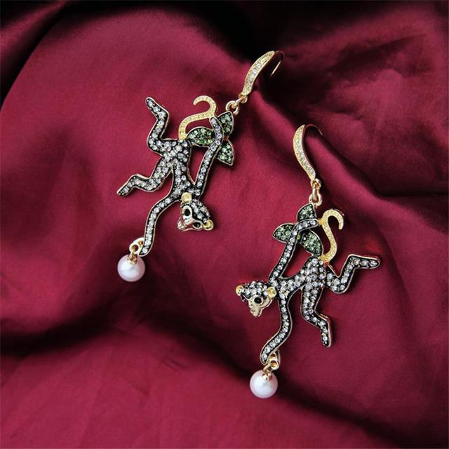 Animal Jewelry New 2016 Latest Gold Earring Designs Monkey Earrings