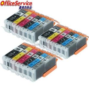 Image 1 - 18X = 3 комплекта совместимый чернильный картридж PGI 750XL CLI 751 PGI750 CLI751 BK C M Y для Canon PIXMA MG6370 MG7170 IP8770 струйный принтер