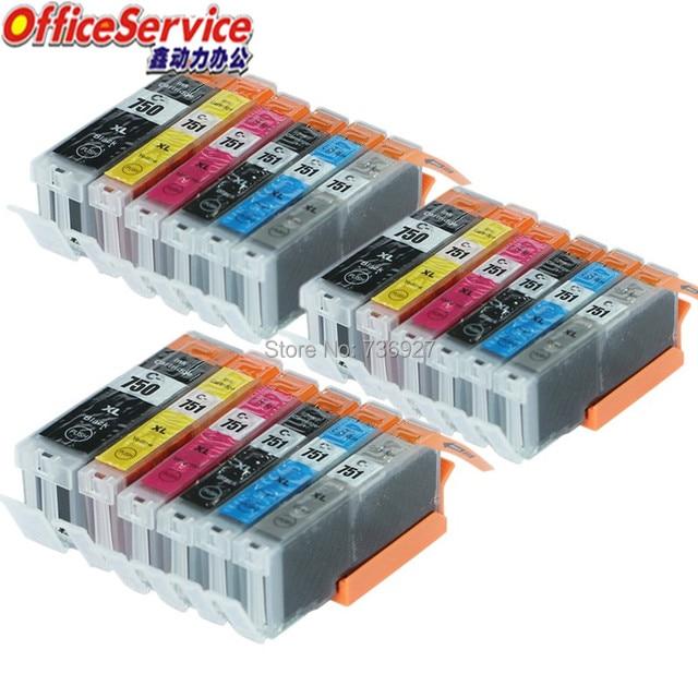 18X = 3 комплекта совместимый чернильный картридж PGI 750XL CLI 751 PGI750 CLI751 BK C M Y для Canon PIXMA MG6370 MG7170 IP8770 струйный принтер