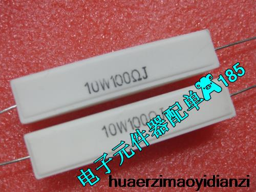 10PCS into horizontal cement resistor RX27 10w100rj 10w 100rJ 5 new