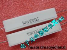 10 PCS en résistance de ciment horizontale RX27 10w100rj 10 w 100rJ 5% nouveau