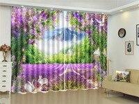 Custom 3D Curtain Flower Arch Hare Fantasy Wonderland 3d Landscape Curtain Blackout Insulation Practical Curtain