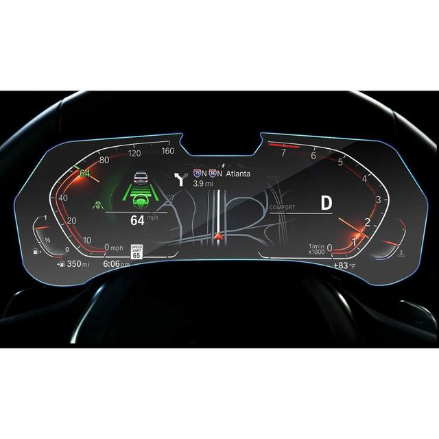 RUIYA מסך מגן עבור BMW X5 G05 LCD מכשיר פנל מסך, 9 שעתי מזג זכוכית מגן הגנה מפני נזק יומי