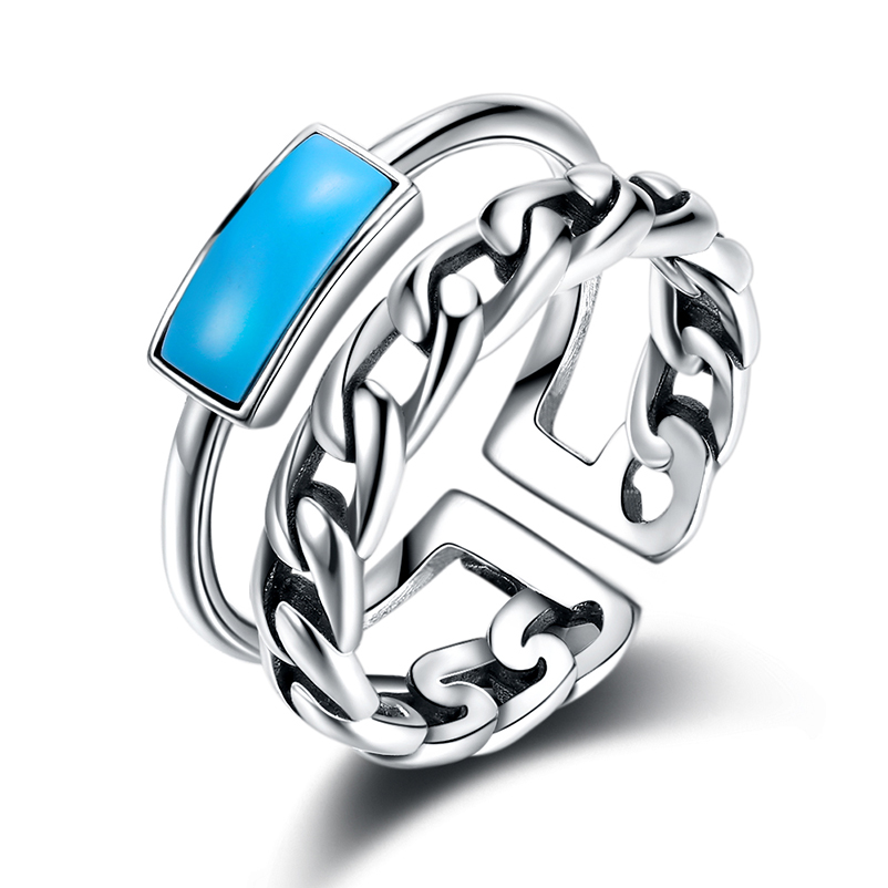 925 Sterling Silver Turquoise Bands