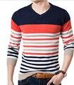 FGGS Высокое Качество Повседневная Свитер Мужской Пуловеры зима Вязание длинным рукавом v-образным вырезом тонкий Трикотаж Свитера