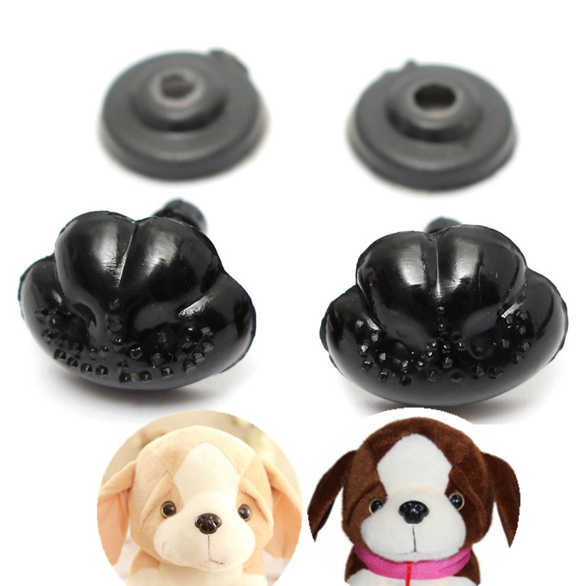 100Pcs/Set 15*12MM Black Plastic Safety Noses For Teddy Bear Doll Animal Puppet Crafts Children DIY Toys Accessories dog Nose