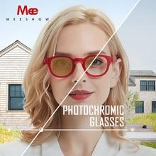 MEESHOWแว่นตาผู้หญิงแว่นตากันแดดPhotochromicแว่นตาชายRetroแว่นตาสายตาสั้นแว่นตาอ่านหนังสือ 0.5 UV400 1513