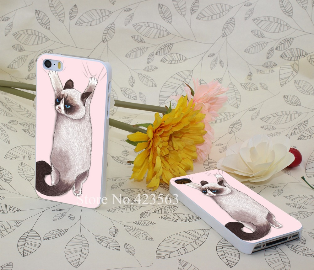 grumpy hang Hard White Skin Case Cover for iPhone 4 4s 5 5s 5g