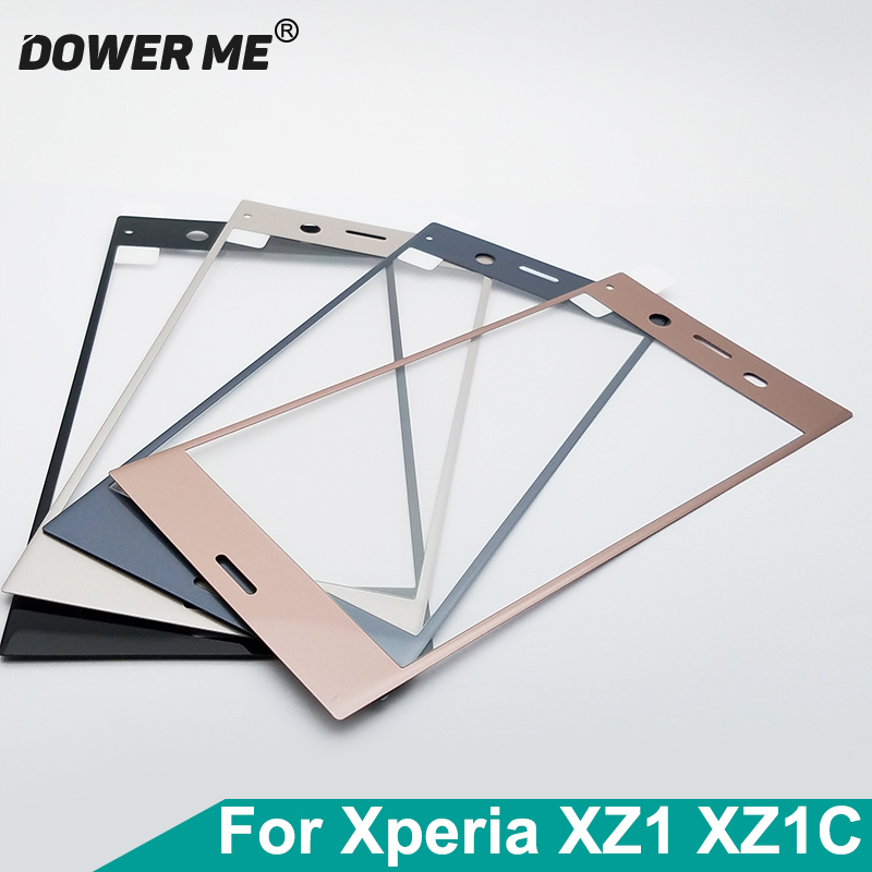 Dower Me 3D Curved Soft Edge Full Glued Tempered Glass Screen Display Protector Film For Sony Xperia XZ1 G8341 XZ1 Compact XZ1c(China)