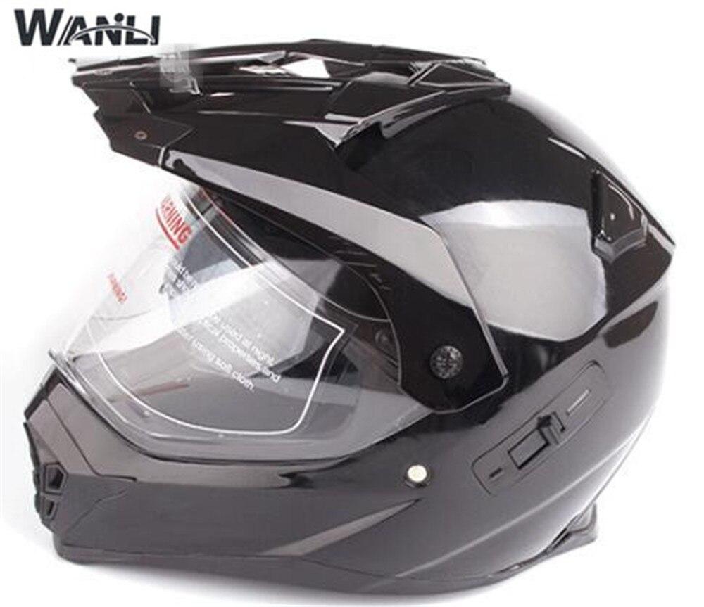 Motocross casques hors route course moto casque lunettes Double lentille moto saleté casque de vélo S M L XL XXL