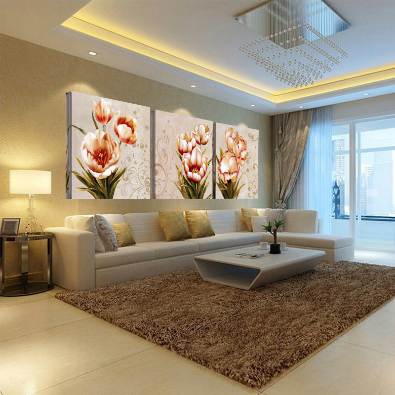 Ica Home Decor: Canvas Painting Three Picture Home Decor Combination