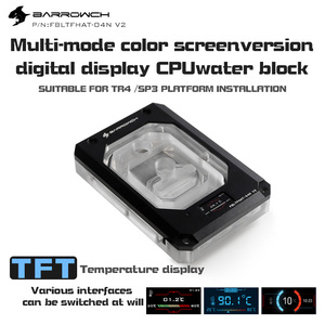 Barrowch FBLTFHAT-04N-V2, для AMD Ryzen Threadripper X399 блоки платформы, цифровой дисплей температуры 0,4 мм Microwaterway блок