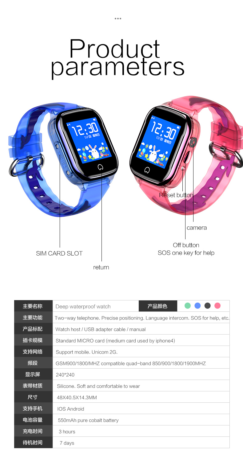 HTB161IodECF3KVjSZJnq6znHFXaa - K21 Smart GPS Watch Kids New IP67 Waterproof SOS Phone Kids Smart Watch Children Clock Fit SIM Card IOS Android Wristwatch
